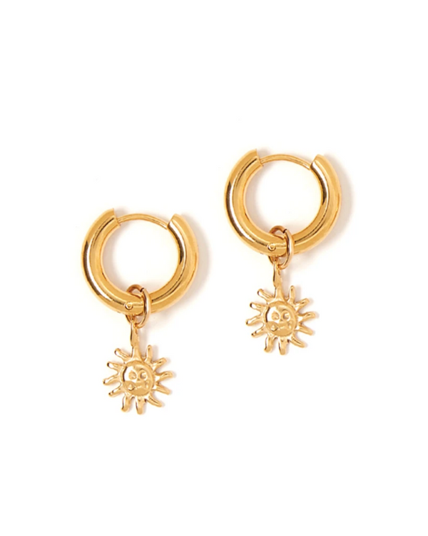 TESS + TRICIA ESTELLE CHARM SUN EARRINGS