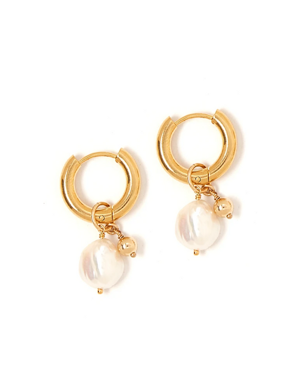 TESS + TRICIA ESTELLE CHARM PEARL EARRINGS