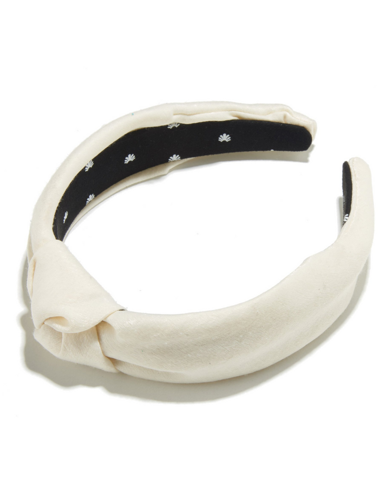 LELE SADOUGHI SILK HEADBAND IN IVORY