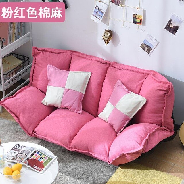 European Lazy Couch Single Double Sofa Bed