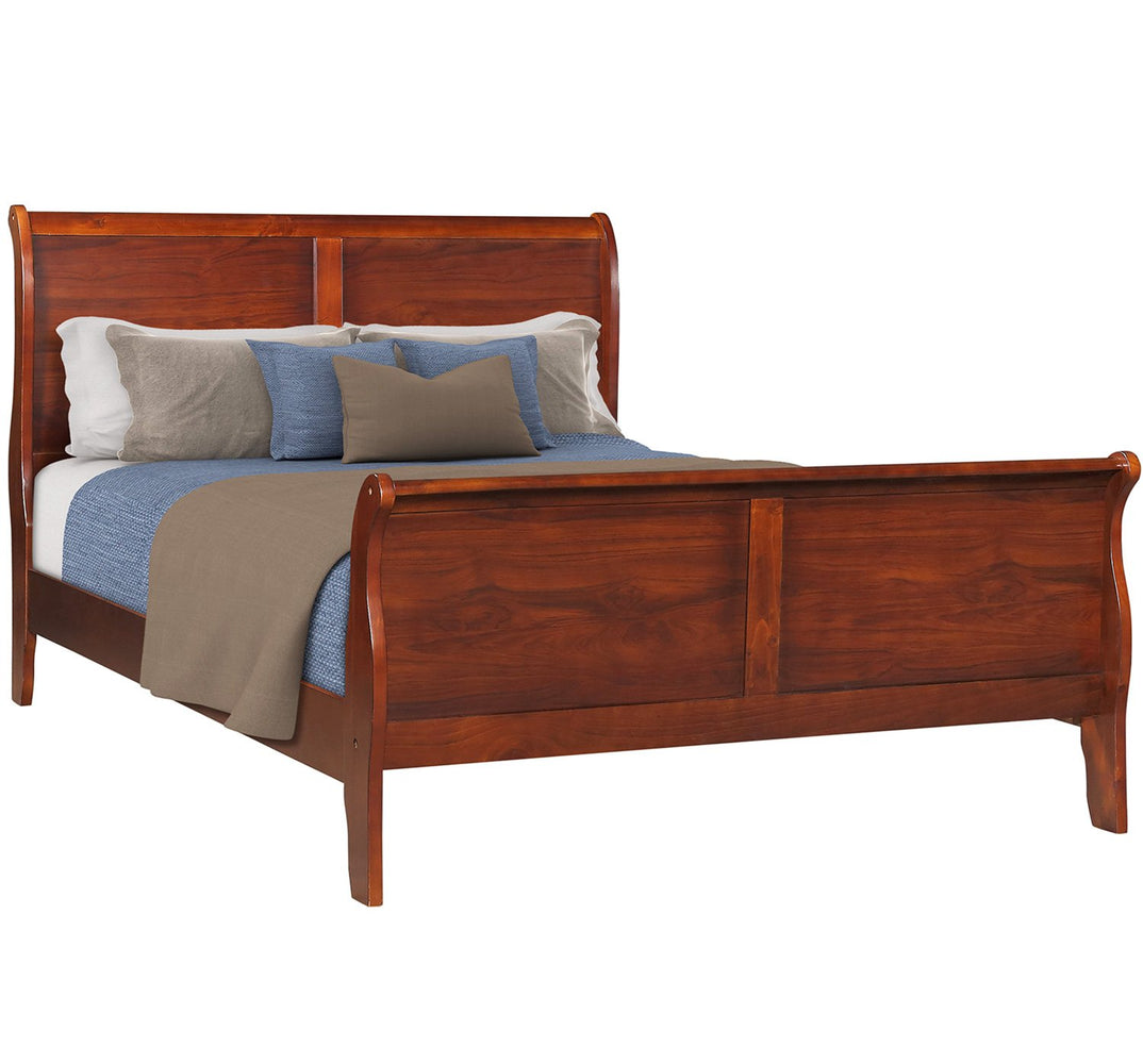 Cherry Platform Bed with Solid Wood Frame