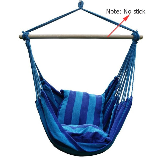 Garden Hanging Hammock Chair with 2 Pillows