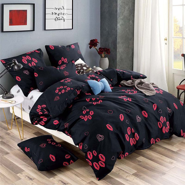 Alanna Printed Solid Bedding Sets