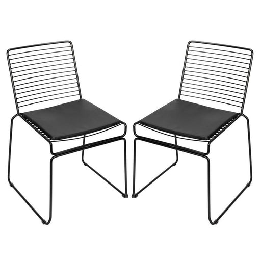 WIRE 2pcs Nordic Fashion Outdoor Dining Chairs