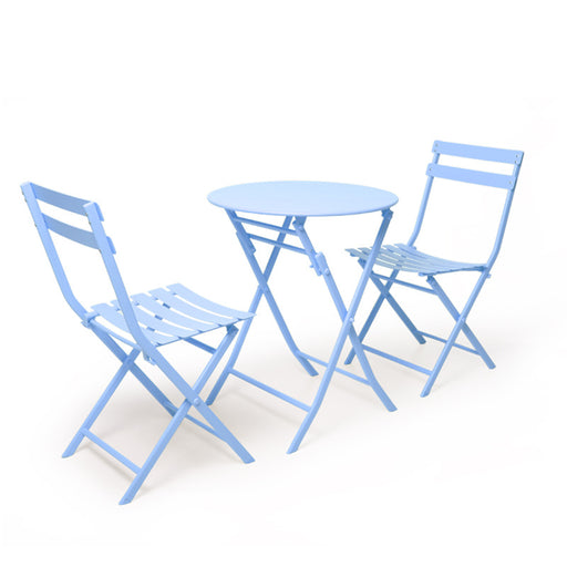 DELIGHT 3PCS Metal Nordic Modern Table and Chair Set