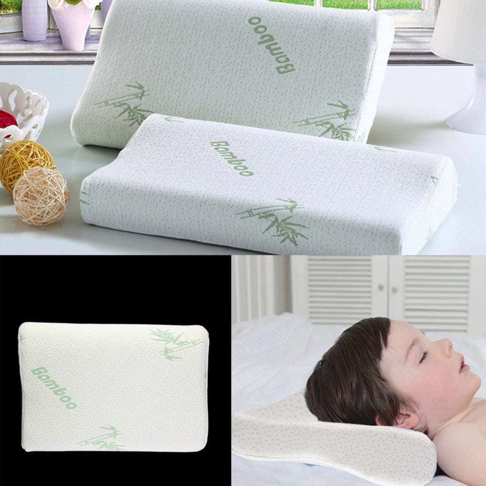 Children Adjustable Bamboo Pillow with Slow Rebound Memory Foam