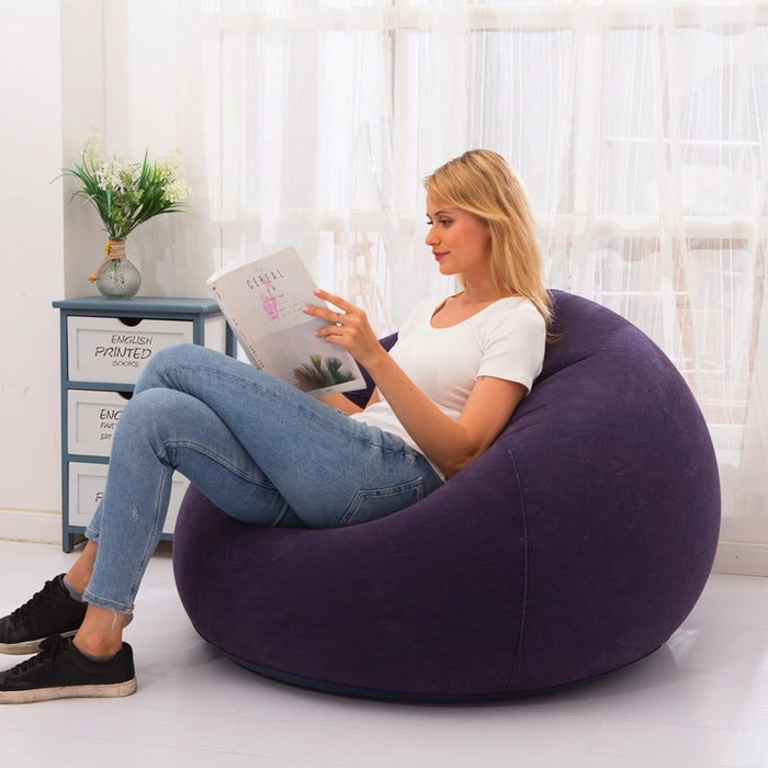 Flocking Inflatable Lazy Football Sofa
