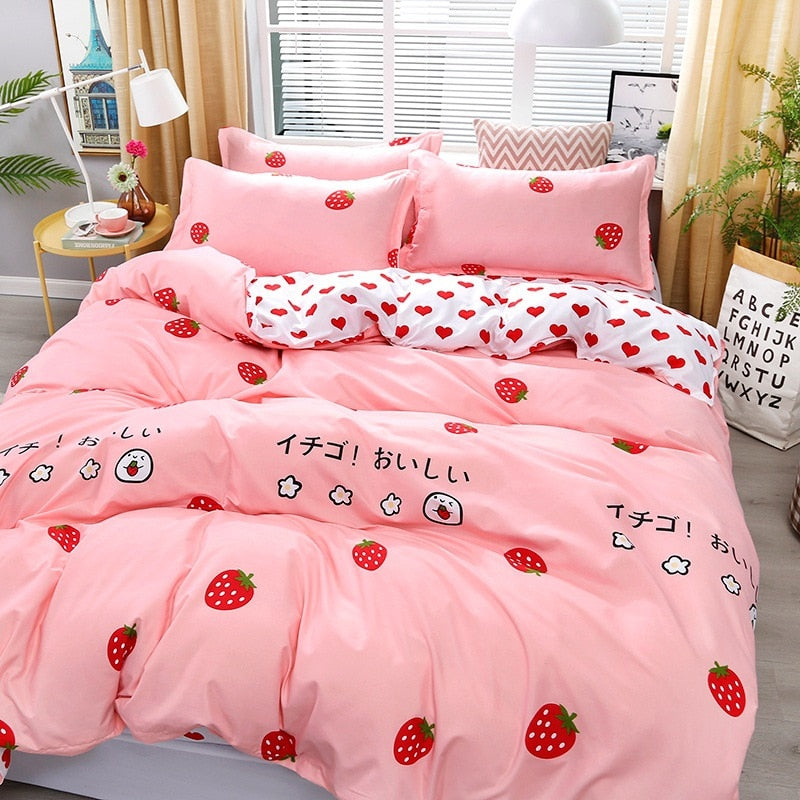 Strawberry Luxury Bedding Set