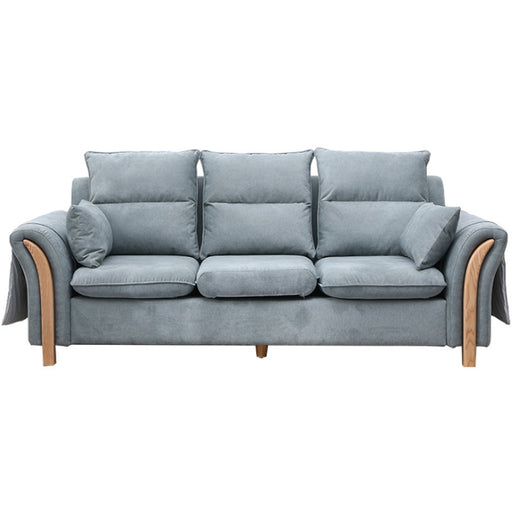 Scandinavian Minimalist Fabric Ash Solid Wood 3 Seater Sofa