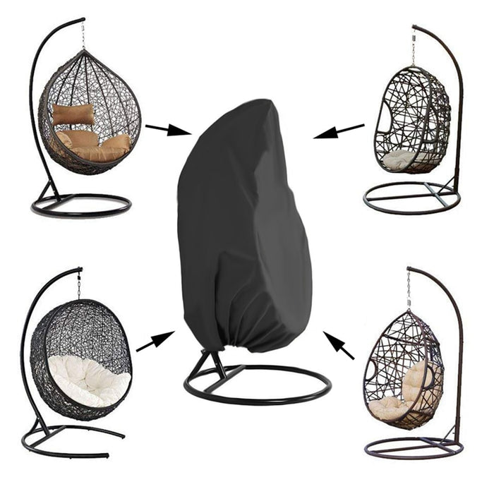 Garden Hanging Rattan Swing Chair with Dust-Proof Waterproof UV Protection Cover