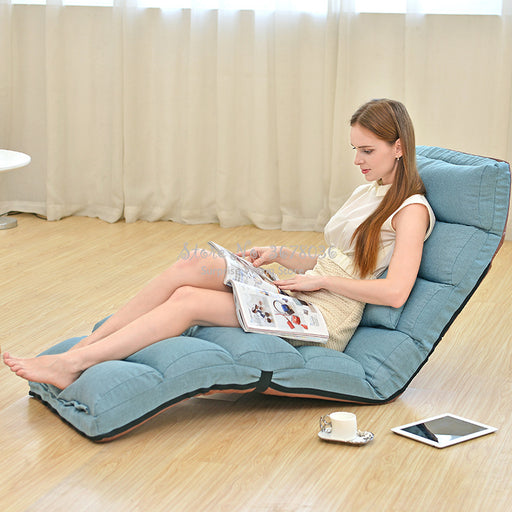 Adjustable Lazy Sofa Floor Chair with Feet Cushion