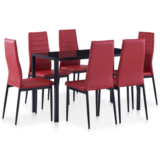 VidaXL Dining Room Table Set 7pcs