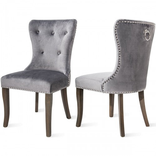VICTORIA Dining Chair Button Tufted Armless 2PCS