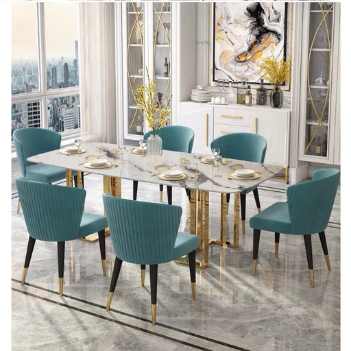 U-BEST Italian Marble Dining Table with Nordic Chairs