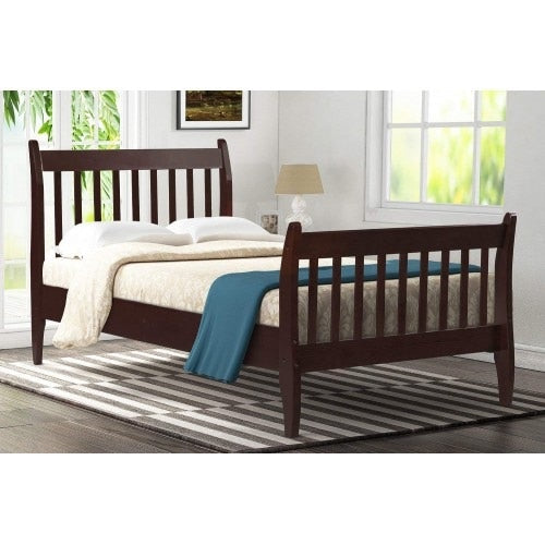 Farmhouse Pine Wood Twin Size Bed Frame