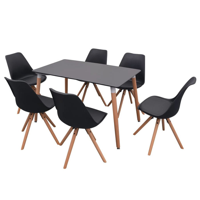 VidaXL Multifunction Table and Chairs Set 7pcs