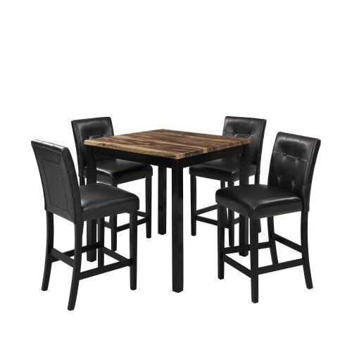 STELLA 5 Piece Counter Height Dining Table Set