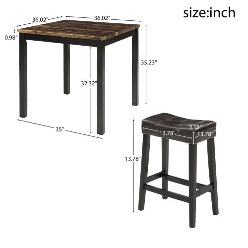 WOODO 5-Piece Counter-Height Dining Set