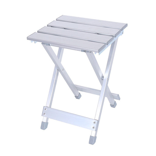 Home Folding Stool 40cm Collapsible Portable Aluminum Alloy Finish