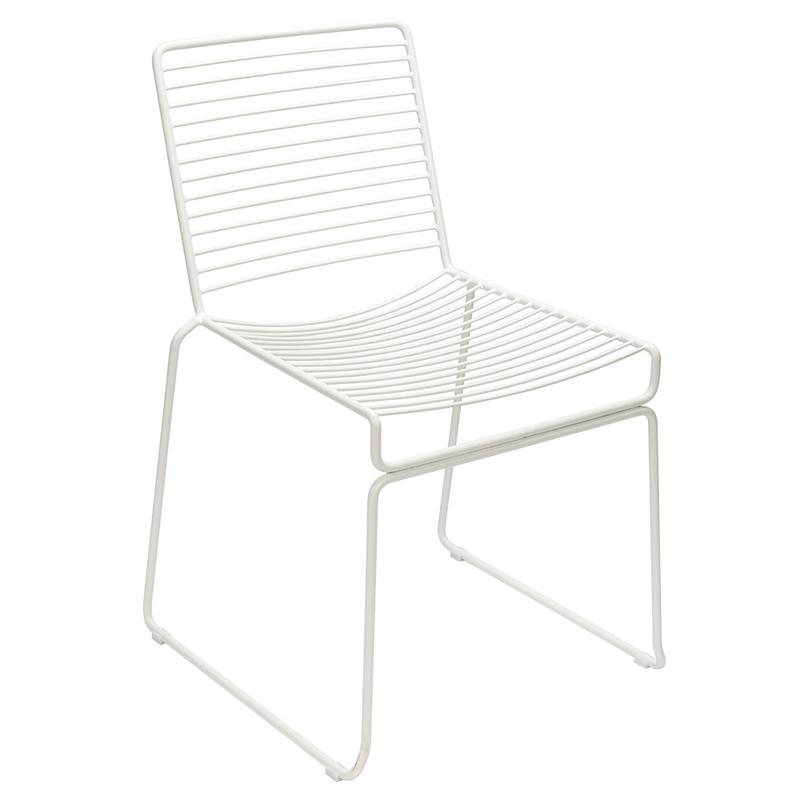 WIRE 2pcs Nordic Fashion Wire Outdoor Dining Chair