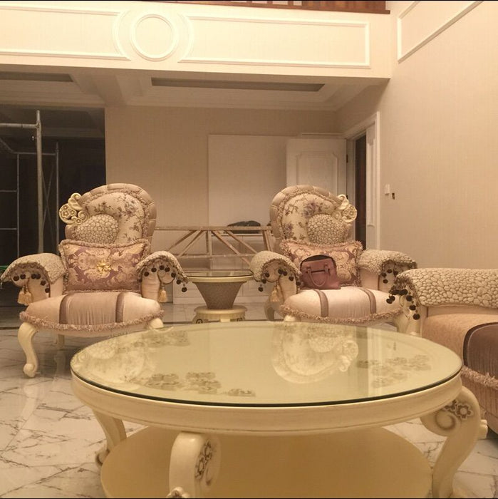Luxury French Sofa Set 1+1+2+3