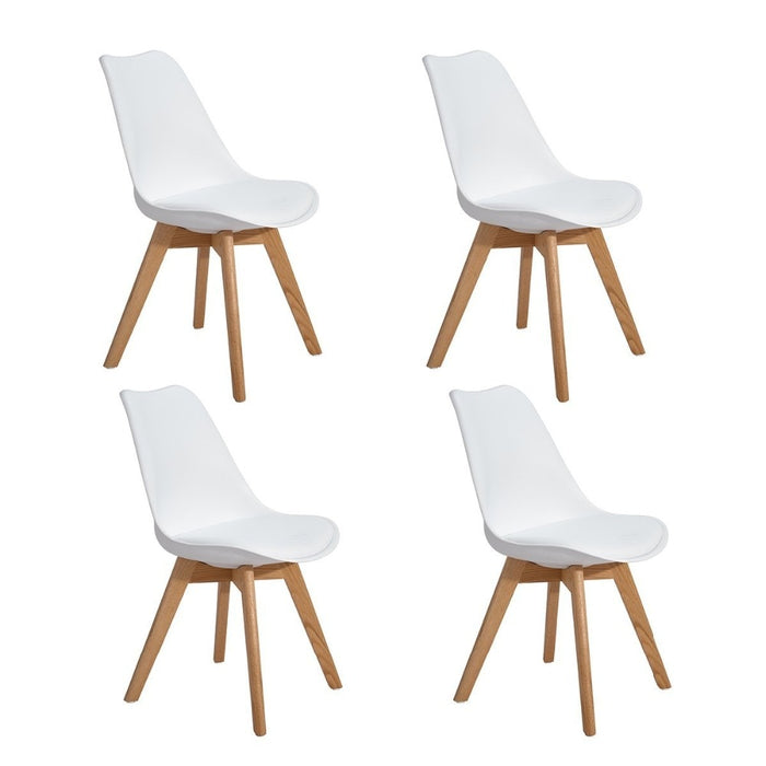 EGGREE Set of 4 Dinings Chair with Solid Wood Beech Legs