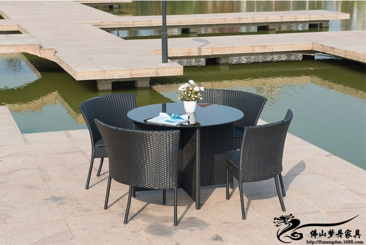 OVELO Outdoor Furniture Garden Table & Chairs Set