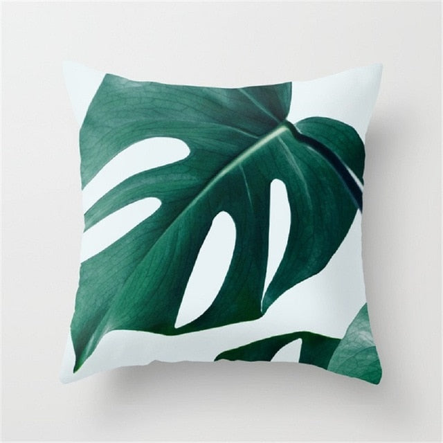 TROPICAL Plant Cushion Case Cotton