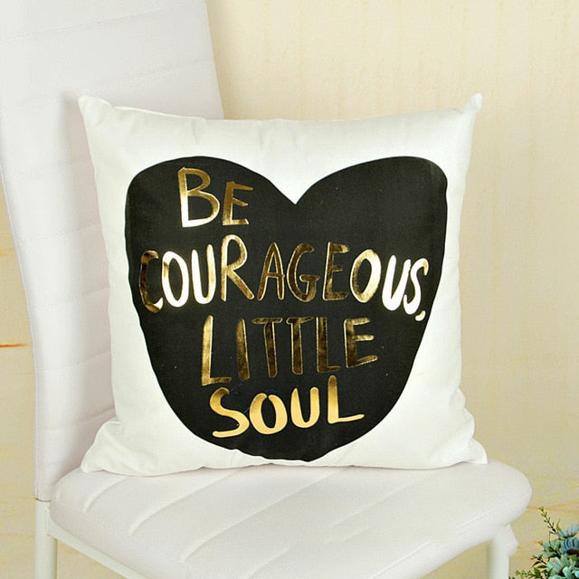 Love Style Gold Stamp Cushion Covers 45cm*45cm