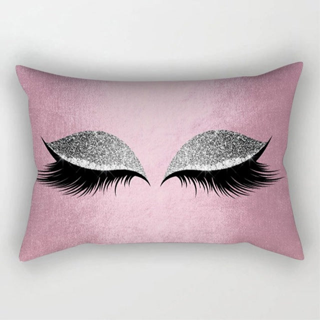 Eyelash Polyester Pillow Cases