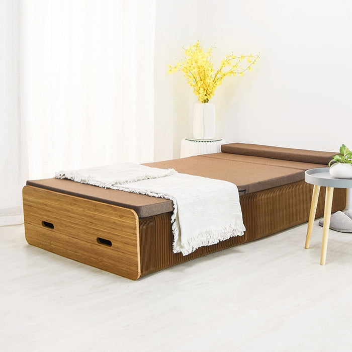 Folding Paper Bed with Free Mattress