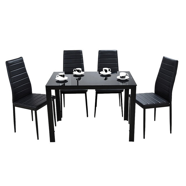 PANANA Glass Dining Table Set with 4 or 6 Chairs