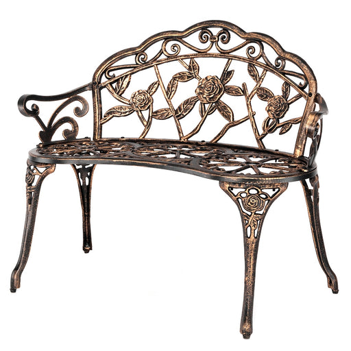 "ELLE 38.5"" Cast Aluminum Outdoor Bench"