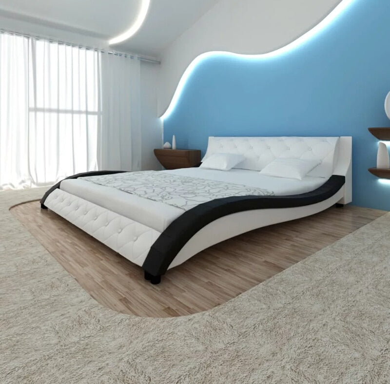 VidaXL Imitation Leather Bed (without mattress) 235 x 161 x 70 cm