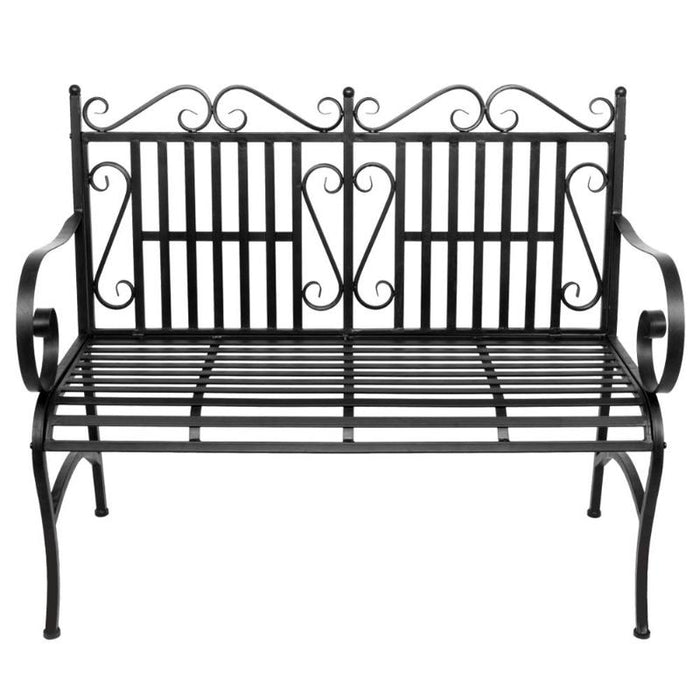 HALO 2 Seater Foldable Outdoor Patio Garden Bench with Steel Frame