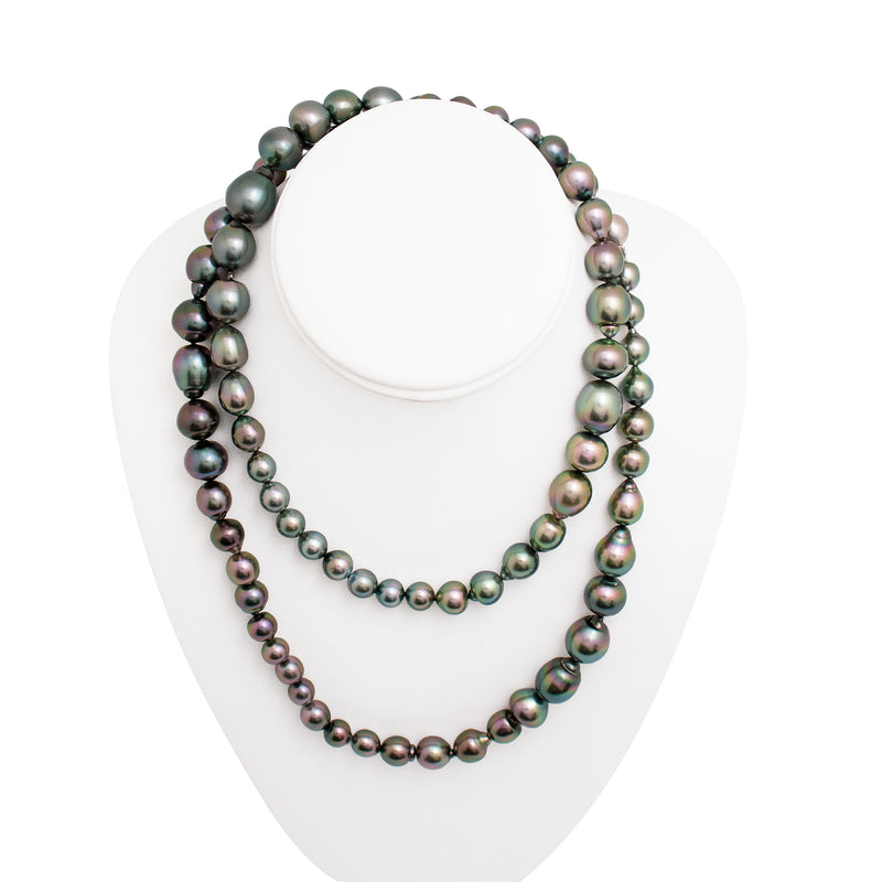 Tahitian pearl strand - Silver clasp - C6AXX683