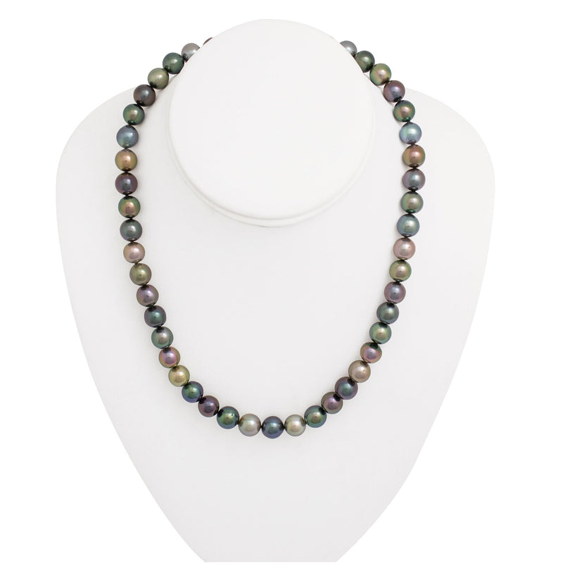 Tahitian pearl strand - Silver clasp - C7AXX420