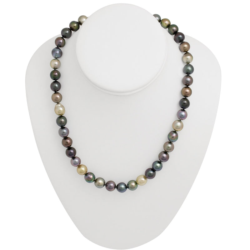 Tahitian pearl strand - Silver clasp - C7AXX421