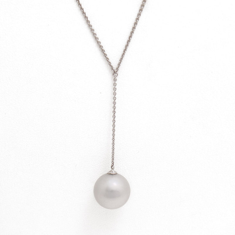 Tahitian pearl necklace - 18k white gold - CDTOGX1310