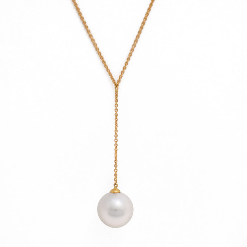 Tahitian pearl necklace - 18k yellow gold - CDTOJX1308