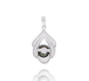 Tahitian pearl pendant in silver - Dewdrops collection - PESVPE00479
