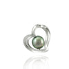 Tahitian pearl pendant in silver - Forever collection - PESVPE00464