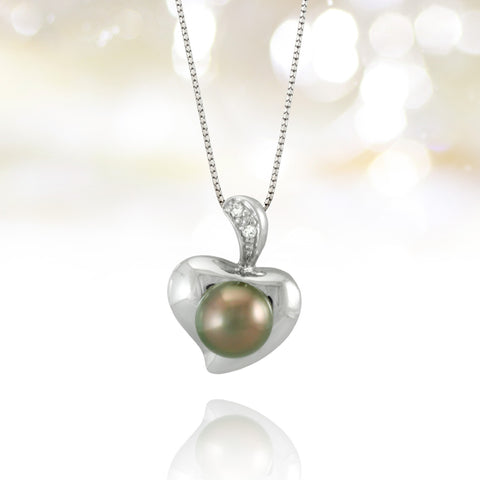 Tahitian pearl pendant in silver - Forever collection - PESZKS00003