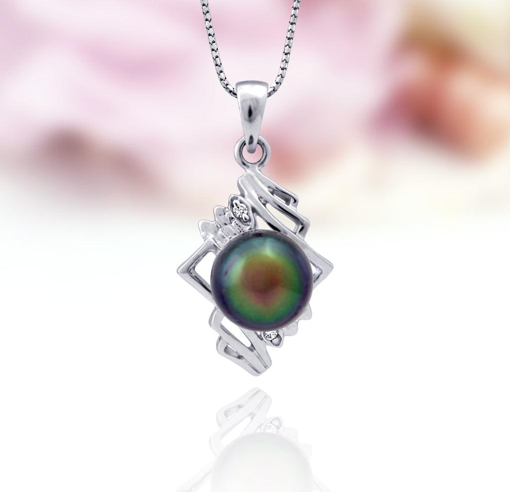 Tahitian pearl pendant in silver - Sterling silver - PESZPE00060