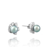 Tahitian pearl earrings - Sterling silver - EASZPE00022