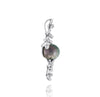 Tahitian pearl pendant in 18k white gold with diamonds - Tiare Tahiti - PEWDPE00530