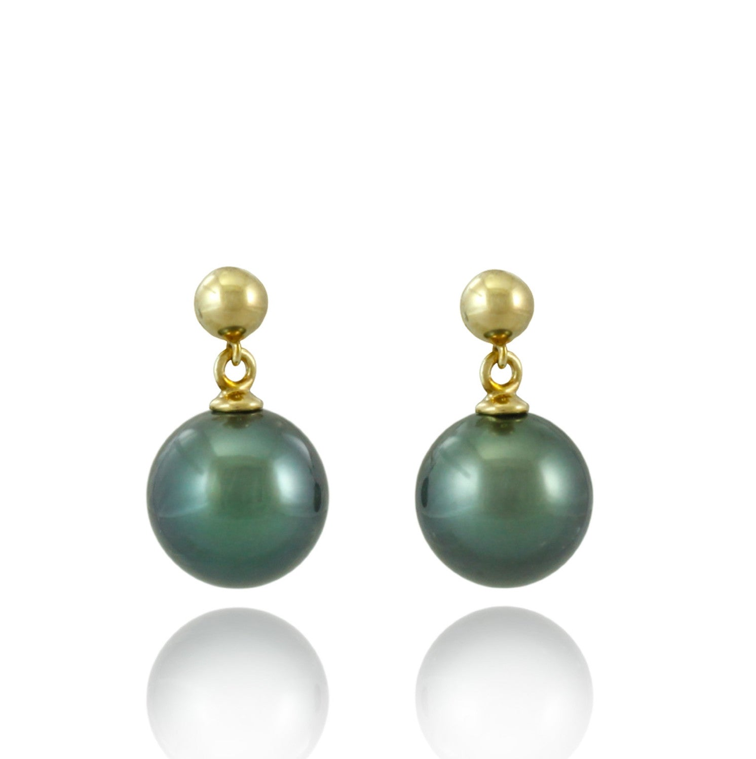 Tahitian pearl earrings in gold plated - Timeless Elegance - EAGPPE00009