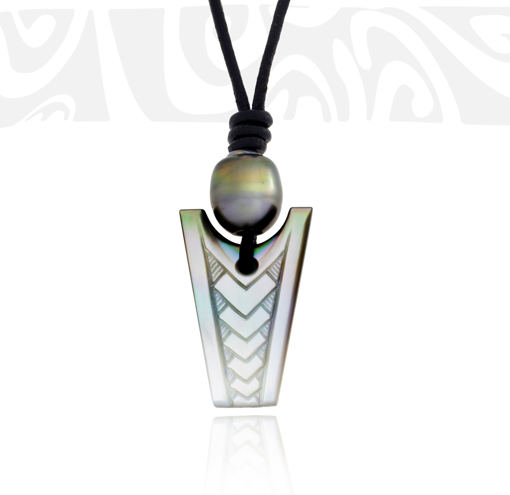 Tahitian pearl necklace - Tribal Identity - NDMPPE00018