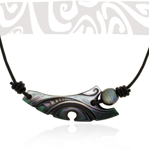Tahitian pearl necklace - Tribal Identity - NDMPPE00022