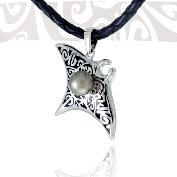 Tahitian pearl necklace - Tribal Identity - NDOMPE01273